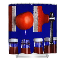 Water Extraction From Tomato Shower Curtain by Photo Researchers