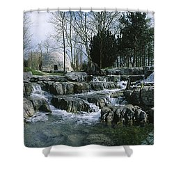 Water Flowing In A Garden, St. Fiachras Shower Curtain by The Irish Image Collection