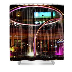 Water Fountain With Circle Seven Shape Shower Curtain