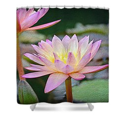 Water Lilies Shower Curtain by Steven Michael