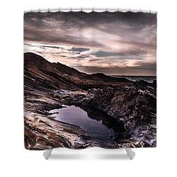 Water On Mars Shower Curtain by Edgar Laureano