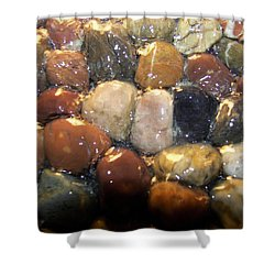 Shower Curtain featuring the photograph Water Over River Rock I by Carolyn Repka