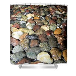 Shower Curtain featuring the photograph Water Over River Rock II by Carolyn Repka