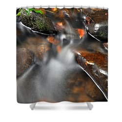 Water Over Rocks Shower Curtain by Kay Lovingood