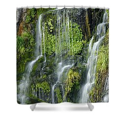 Waterfall At Columbia River Washington Shower Curtain by Ted J Clutter and Photo Researchers