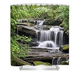 Waterfall Near Mabbitt Spring Shower Curtain