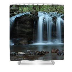 Waterfall On Flat Fork Shower Curtain