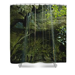 Waterfalls  Shower Curtain by Jacques Jangoux and Photo Researchers