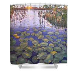 Waterlillies South Africa Shower Curtain