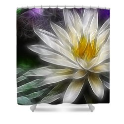 Shower Curtain featuring the digital art Waterlily In Pseudo-fractal by Lynne Jenkins