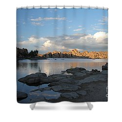 Watson Lake 5  Shower Curtain by Diane Greco-Lesser
