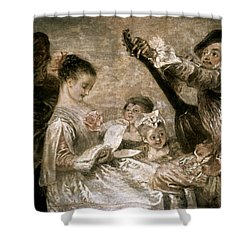 Watteau: Music Shower Curtain by Granger