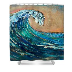 Wave To The South Shower Curtain by Linda Olsen