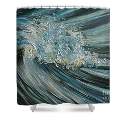 Shower Curtain featuring the painting Wave Whirl by Julie Brugh Riffey