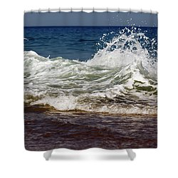 Waves In Motion Shower Curtain