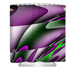 Waves  Shower Curtain by Mark Moore