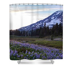 Waves Of Purple Shower Curtain by Mike Reid