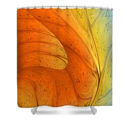 Waves Of Sanity Shower Curtain by Deborah Benoit