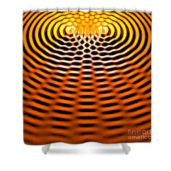 Waves Superpositioning 4 Shower Curtain by Russell Kightley