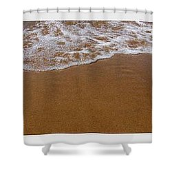 Waves Triptych Shower Curtain by Michelle Calkins