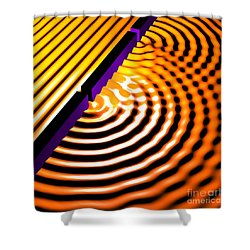 Waves Two Slit 2 Shower Curtain by Russell Kightley