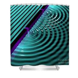 Waves Two Slit 3 Shower Curtain