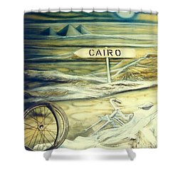Way To Cairo Shower Curtain