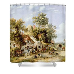 Wayside Inn Shower Curtain by Georgina Lara