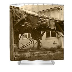 Shower Curtain featuring the photograph Weathered And Blown To Pieces by Kym Backland