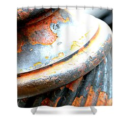 Weathered Column  Shower Curtain by Carol Groenen