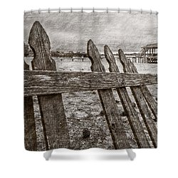 Weathered Shower Curtain by Debra and Dave Vanderlaan
