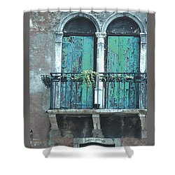 Weathered Venice Porch Shower Curtain by Tom Wurl