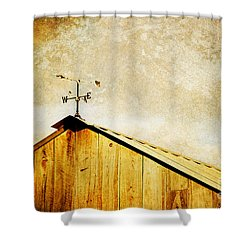 Weathervane Shower Curtain by Joan McCool