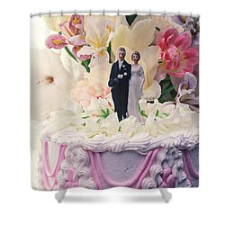 Wedding Cake Shower Curtain by Garry Gay