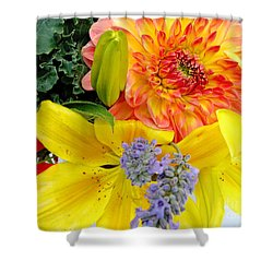 Shower Curtain featuring the photograph Wedding Flowers by Rory Sagner