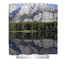 Wedge Pond, Mount Kidd, Kananskis Shower Curtain by Michael Interisano