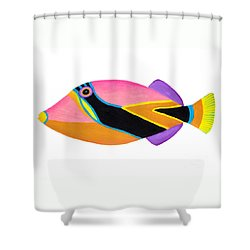 Wedge Tail Triggerfish  Shower Curtain by Opas Chotiphantawanon