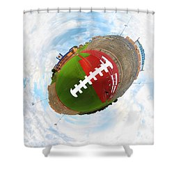 Wee Football Shower Curtain by Nikki Marie Smith