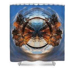 Wee Lake Vuoksa Twin Islands Shower Curtain by Nikki Marie Smith