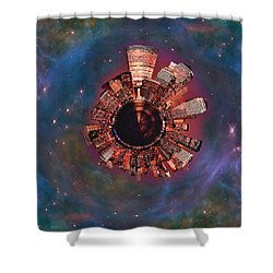 Wee Manhattan Planet Shower Curtain
