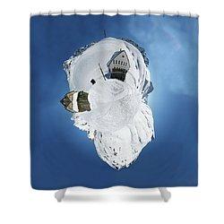 Wee Winter Hotel Shower Curtain by Nikki Marie Smith