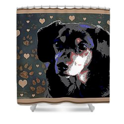 Wee With Love Shower Curtain by One Rude Dawg Orcutt