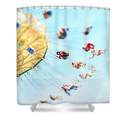 Weeeeeee Shower Curtain by Darren Fisher