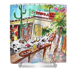 Welcome To Cyprus 03 Shower Curtain by Miki De Goodaboom