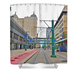 Shower Curtain featuring the photograph Welcome To Dt Buffalo by Michael Frank Jr