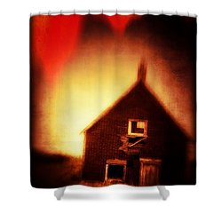 Welcome To Hell House Shower Curtain by Edward Fielding