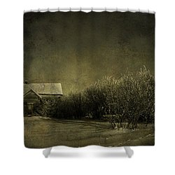 Well Come In Shower Curtain by Empty Wall