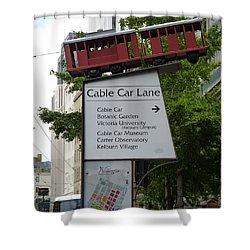 Wellington Cablecar Shower Curtain by Carla Parris