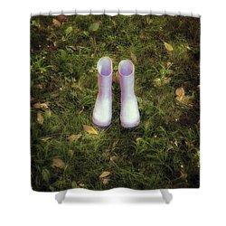 Wellingtons Shower Curtain by Joana Kruse