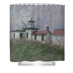 West Point Lighthouse - Seattle Shower Curtain